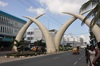 <p>Symbol Mombasy kły słonia</p>