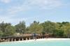 <p>Prison Island widok z łodzi</p>